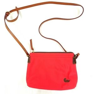 Dooney & Bourke Crossbody Bag Purse Pink Coral Nyl